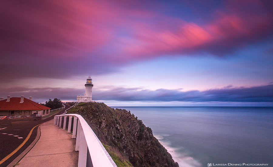 Sunset at the Lighthouse, Byron Bay. Settings: F8 @ 150 seconds. ISO 200