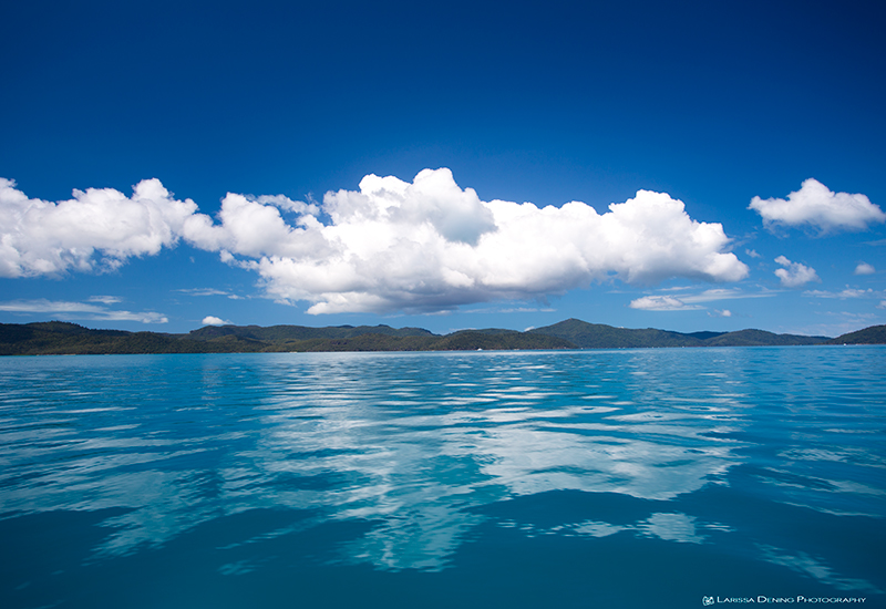 Glassing out in the Whitsunday passage.