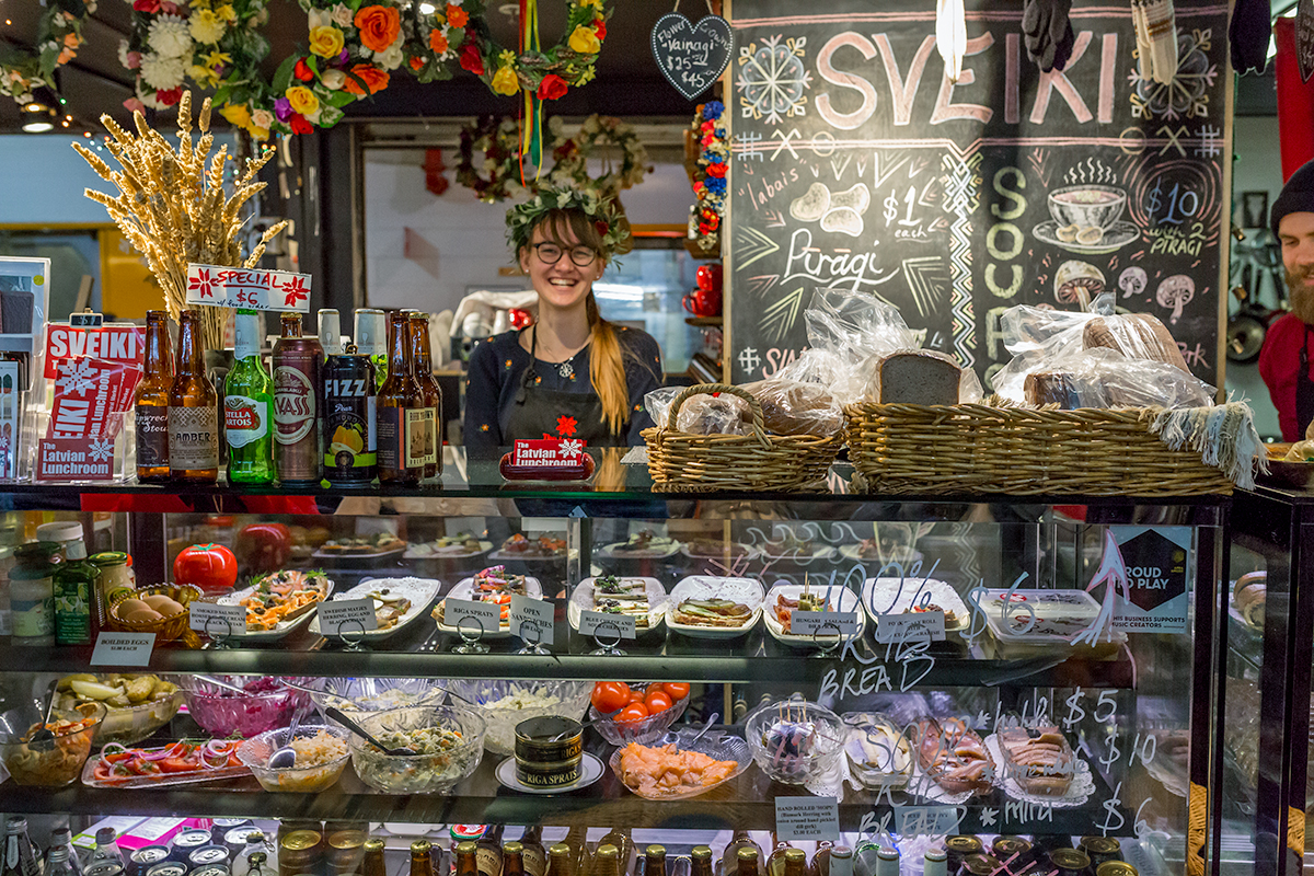 Latvian Food Stall, Adelaide Central Markets