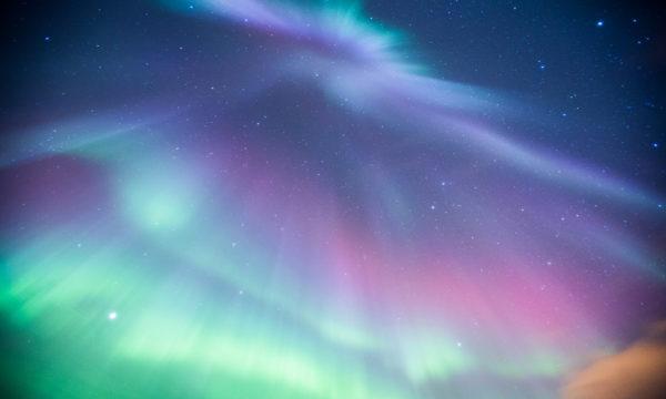 Aurora dancing overhead F2.8 @20 seconds, ISO 1200