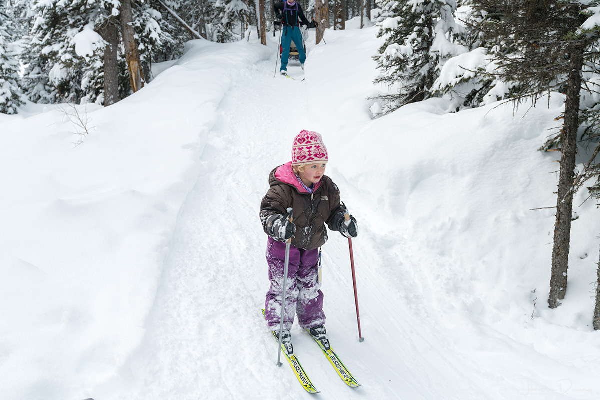 This little cutie is destined to be an Olympic Skier, Shadow Lake Lodge