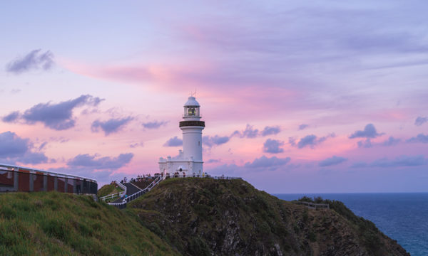 Pink skies over the Byron Bay lighthouse.